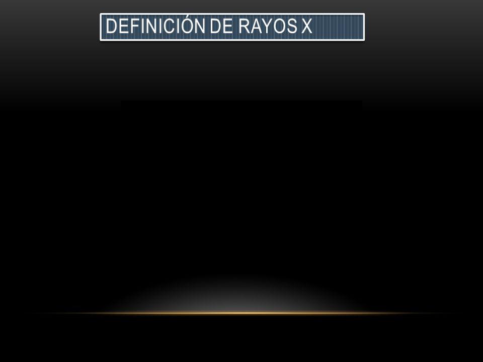 Definición de rayos x