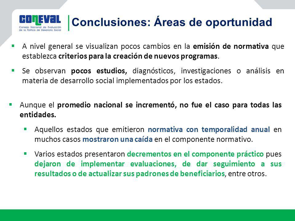 Conclusiones: Áreas de oportunidad