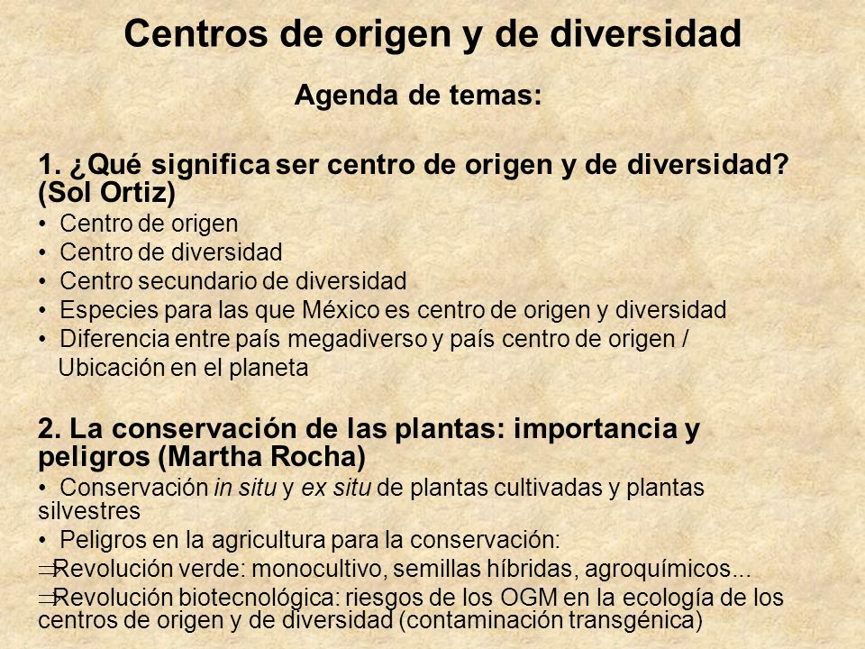 Centros de origen y de diversidad