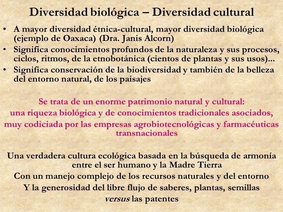 Diversidad biológica – Diversidad cultural