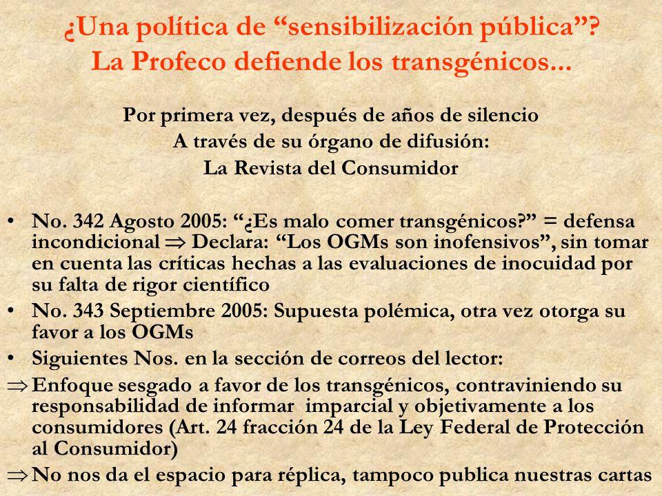 ¿Una política de sensibilización pública