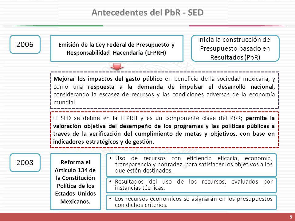 Antecedentes del PbR - SED