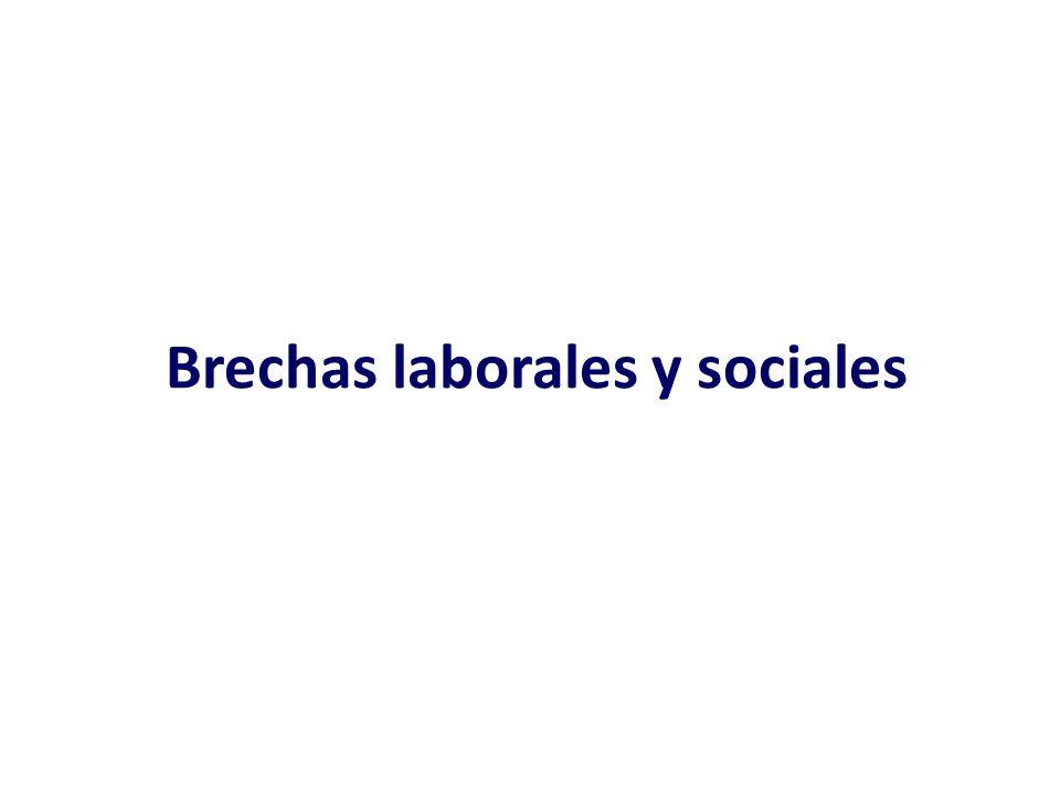 Brechas laborales y sociales