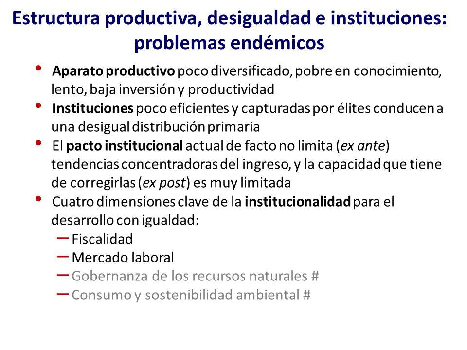 Estructura productiva, desigualdad e instituciones: problemas endémicos