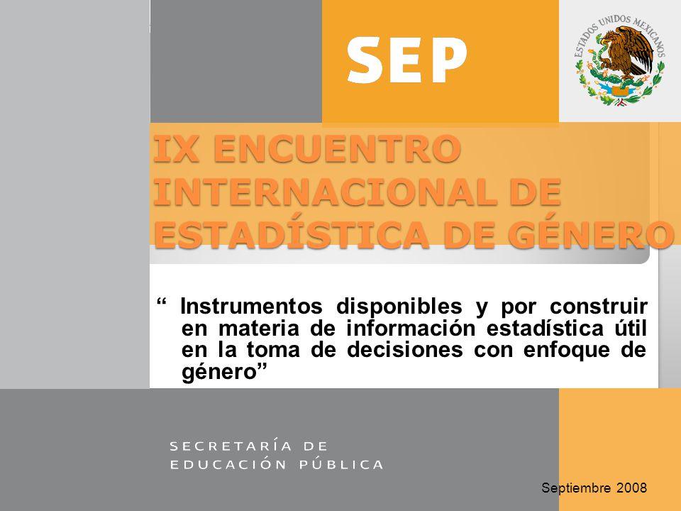 IX ENCUENTRO INTERNACIONAL DE ESTADÍSTICA DE GÉNERO