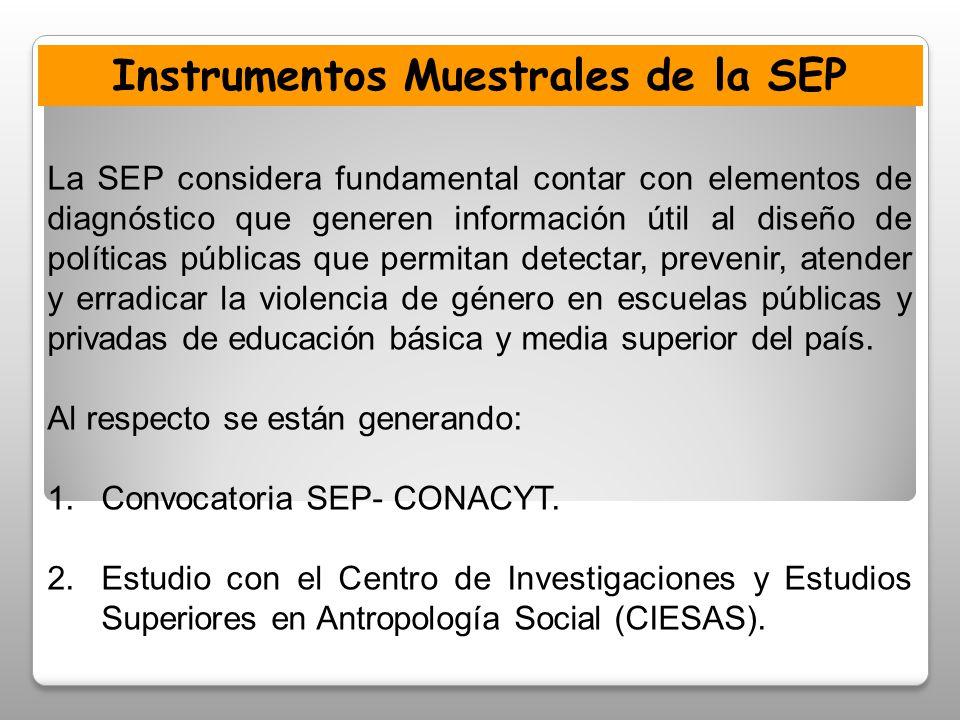 Instrumentos Muestrales de la SEP