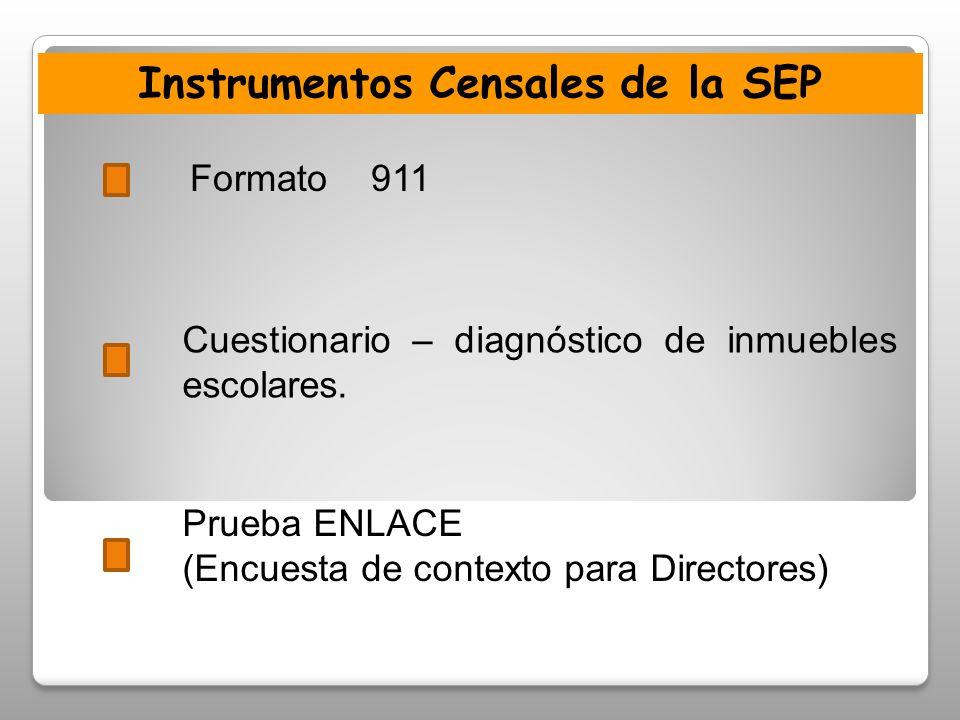 Instrumentos Censales de la SEP