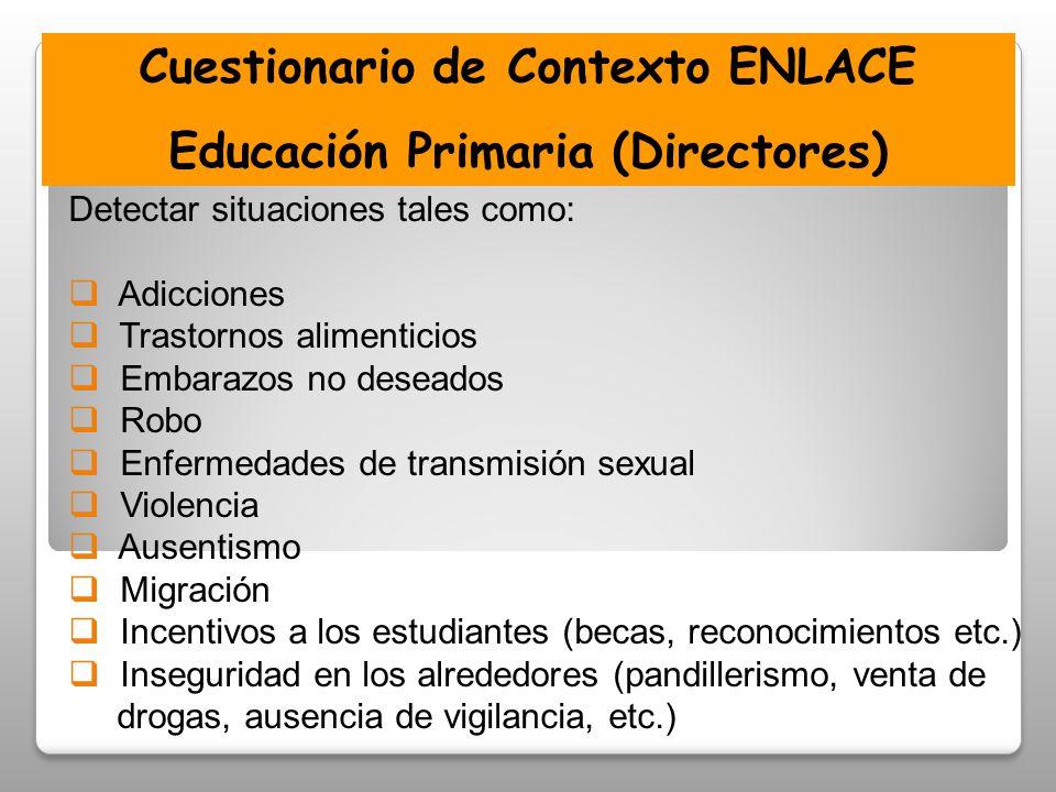 Cuestionario de Contexto ENLACE Educación Primaria (Directores)