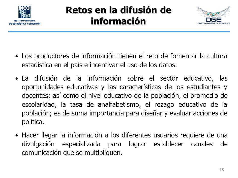 Retos en la difusión de información