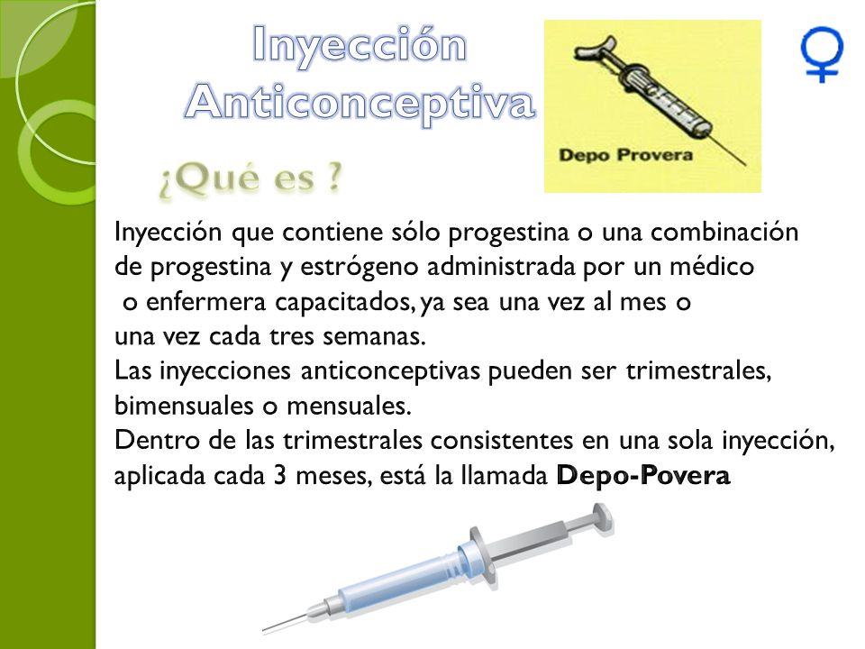 Inyección Anticonceptiva