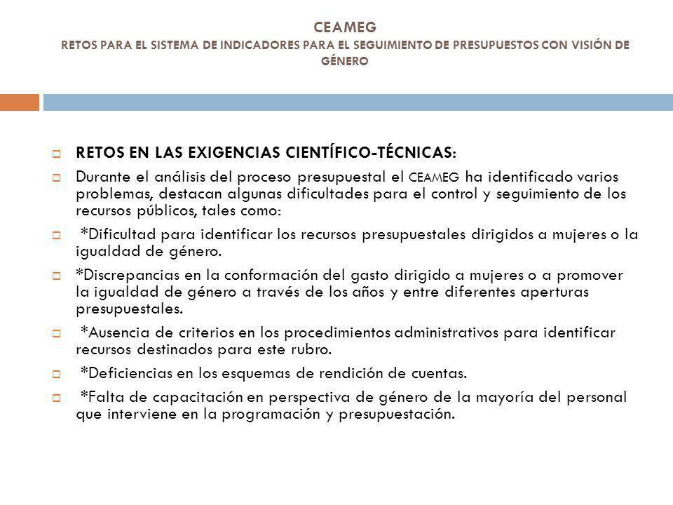 RETOS EN LAS EXIGENCIAS CIENTÍFICO-TÉCNICAS: