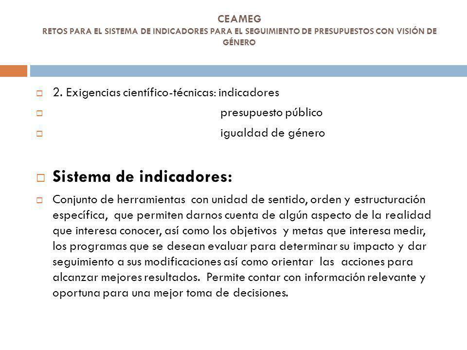 Sistema de indicadores: