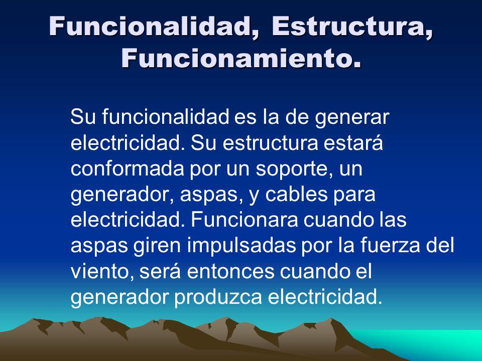 Funcionalidad, Estructura, Funcionamiento.