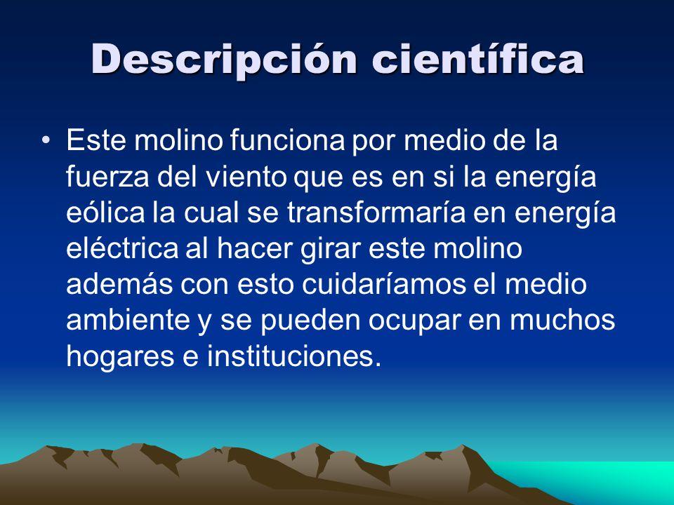 Descripción científica