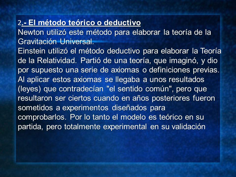 2.- El método teórico o deductivo