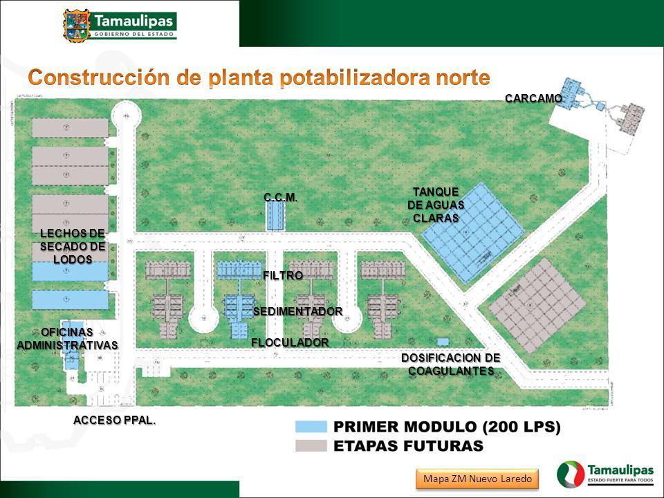 Construcción de planta potabilizadora norte