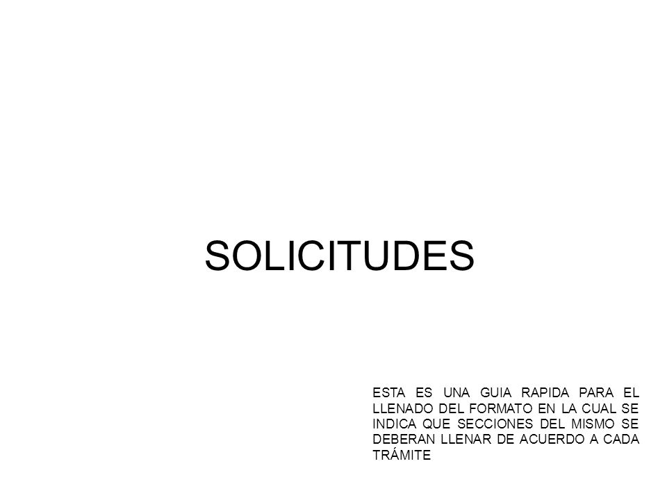 SOLICITUDES
