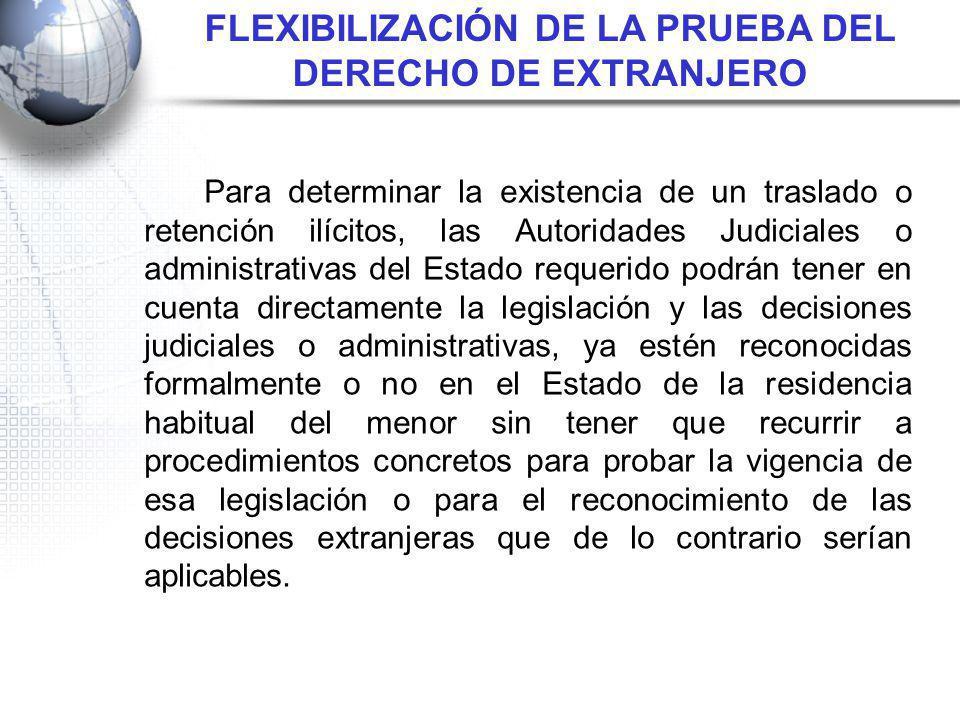 FLEXIBILIZACIÓN DE LA PRUEBA DEL DERECHO DE EXTRANJERO