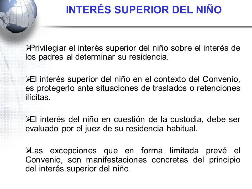 INTERÉS SUPERIOR DEL NIÑO