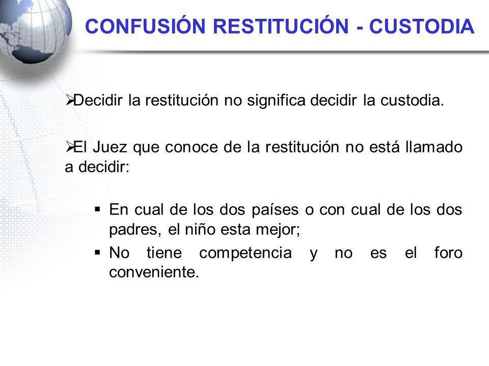 CONFUSIÓN RESTITUCIÓN - CUSTODIA