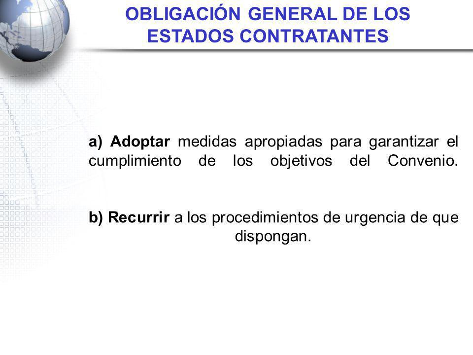 OBLIGACIÓN GENERAL DE LOS ESTADOS CONTRATANTES