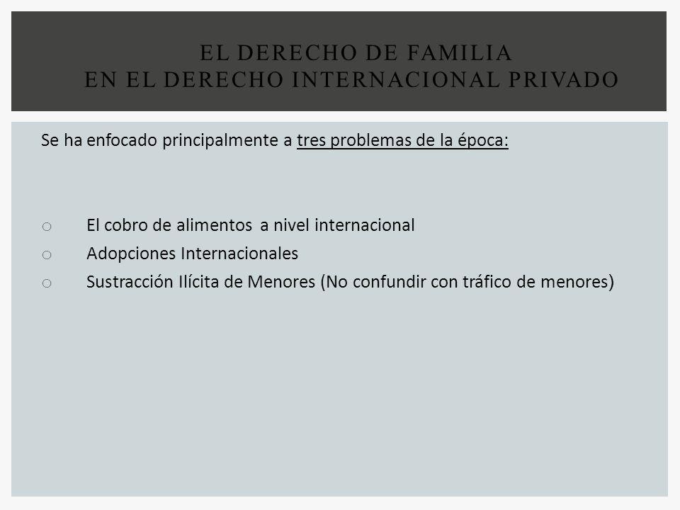 EL DERECHO DE FAMILIA EN EL DERECHO INTERNACIONAL PRIVADO