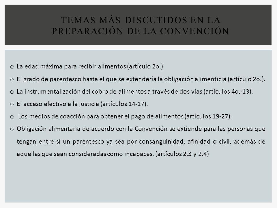 TEMAS más discutidos en la preparación de la Convención
