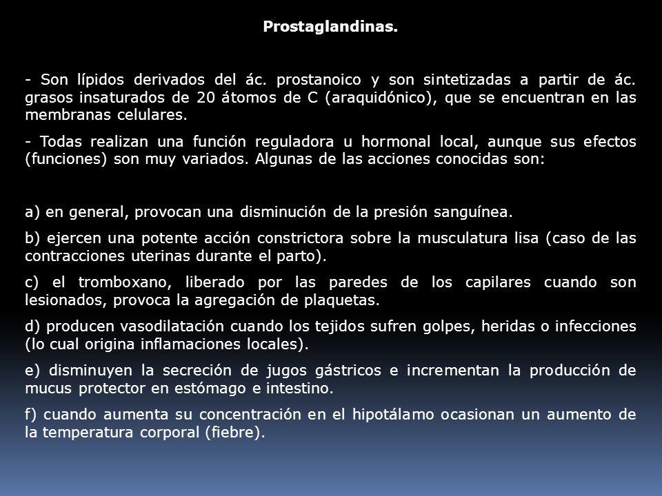 Prostaglandinas.