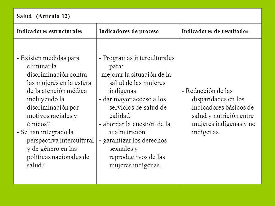 - Programas interculturales para:
