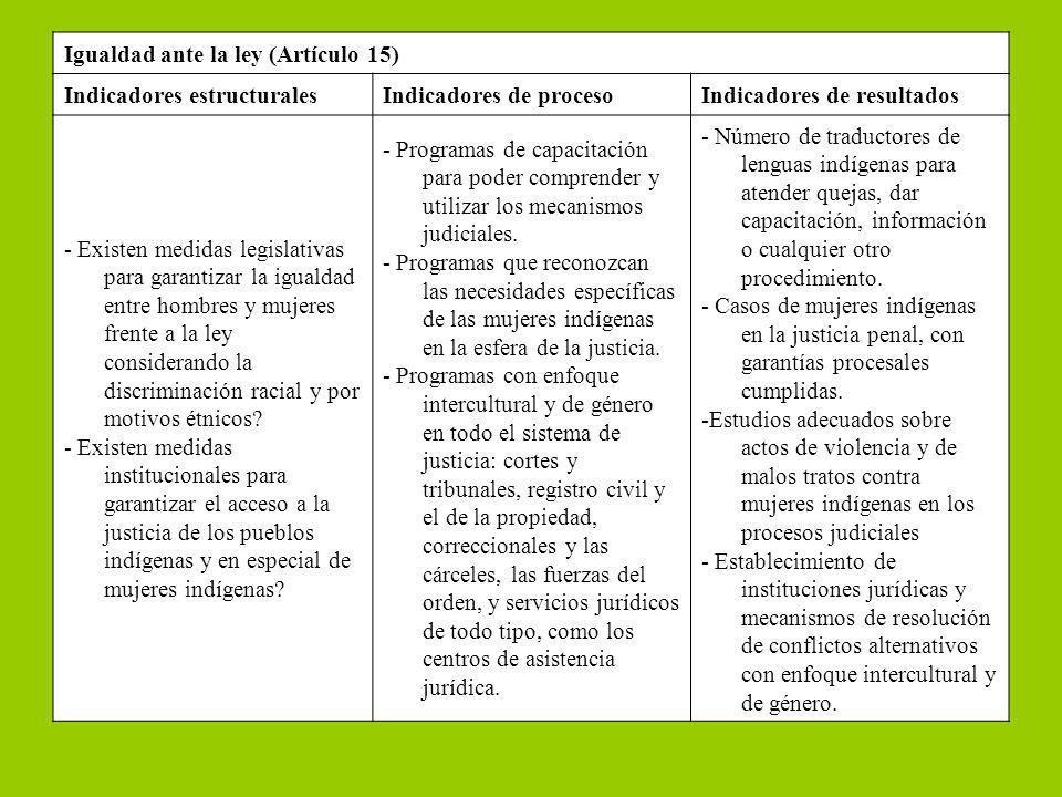 Igualdad ante la ley (Artículo 15)