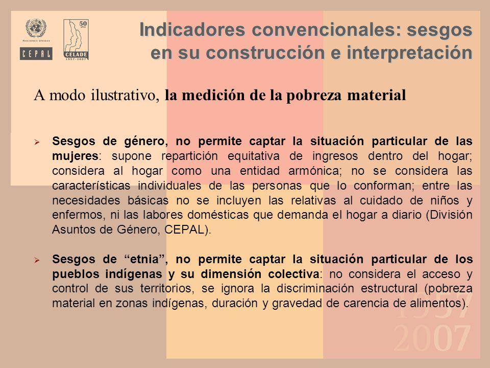 Indicadores convencionales: sesgos en su construcción e interpretación