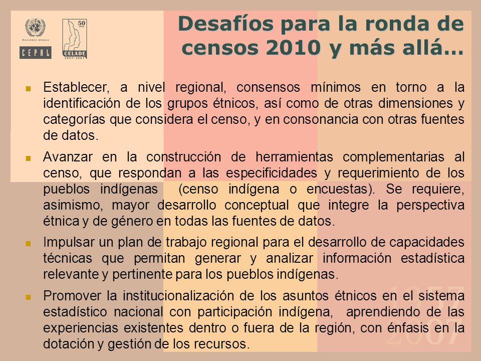 Desafíos para la ronda de censos 2010 y más allá…