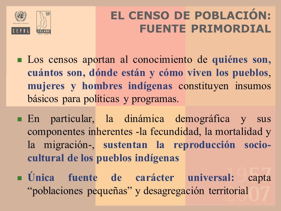 EL CENSO DE POBLACIÓN: FUENTE PRIMORDIAL