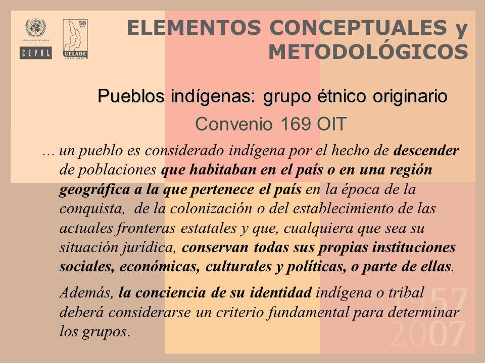 Pueblos indígenas: grupo étnico originario