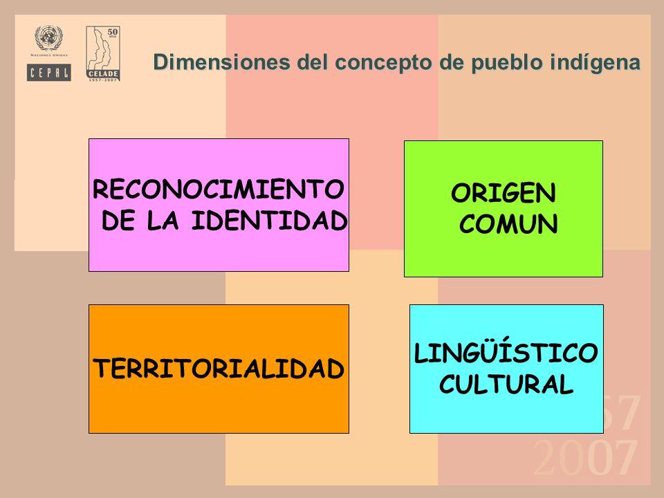 Dimensiones del concepto de pueblo indígena