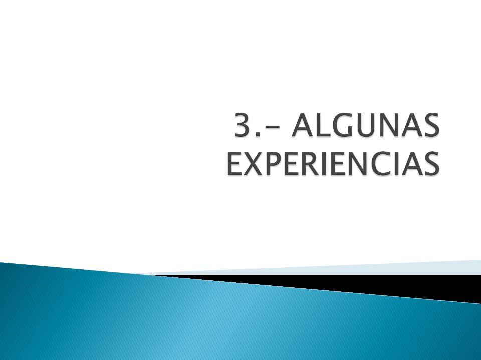 3.- ALGUNAS EXPERIENCIAS