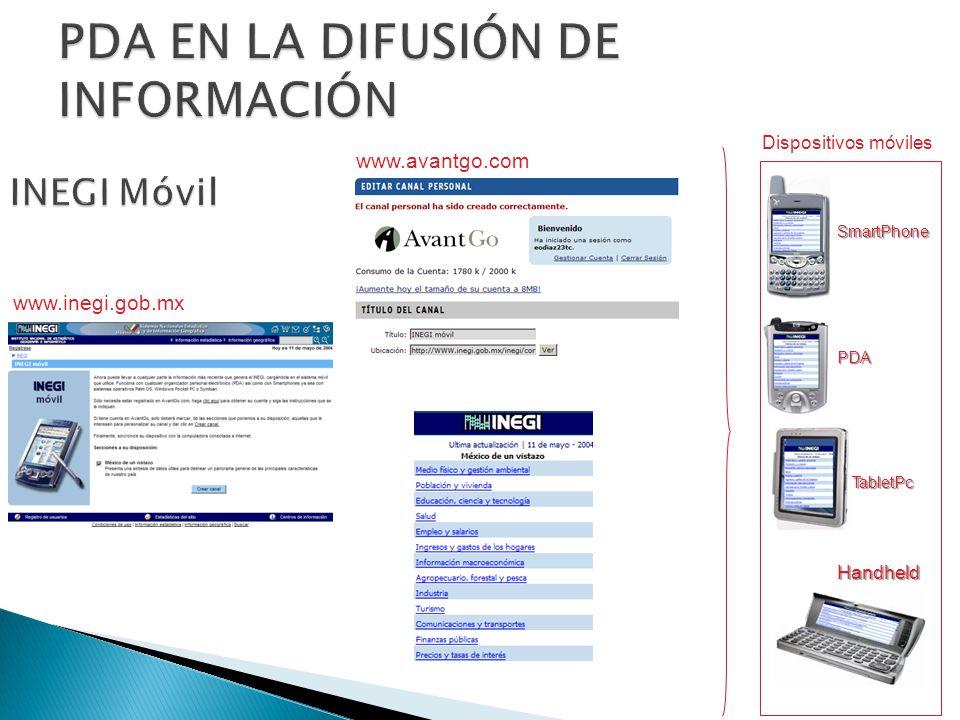 PDA EN LA DIFUSIÓN DE INFORMACIÓN