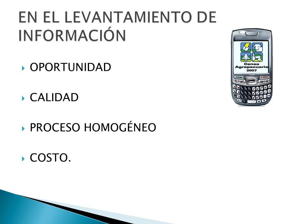 EN EL LEVANTAMIENTO DE INFORMACIÓN