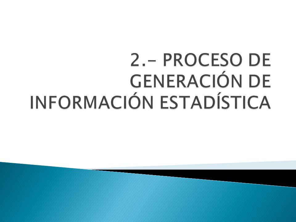 2.- PROCESO DE GENERACIÓN DE INFORMACIÓN ESTADÍSTICA