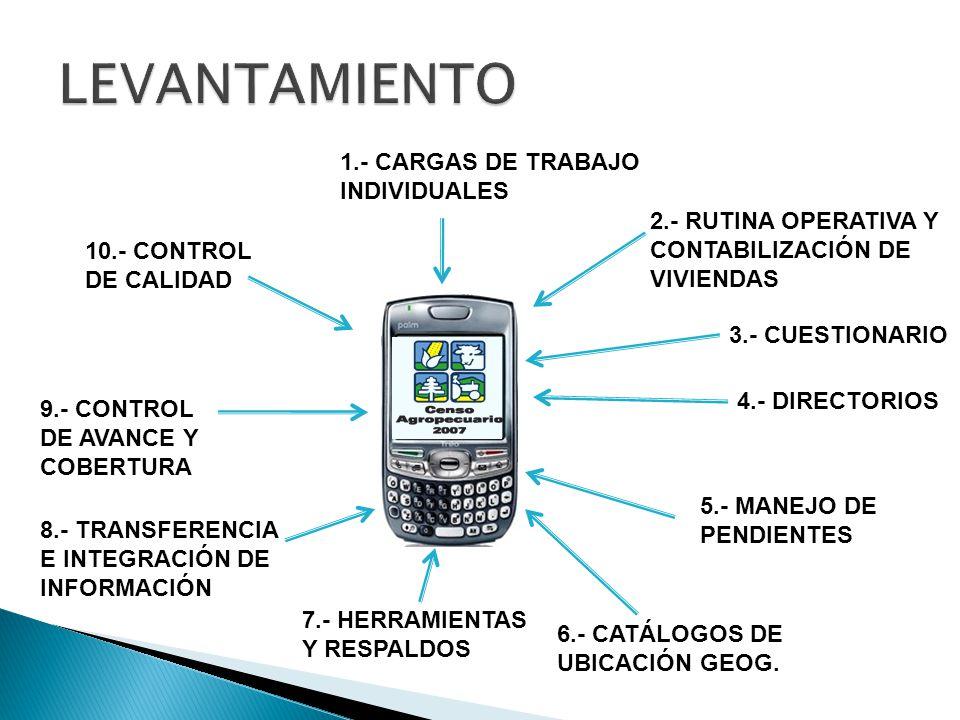 LEVANTAMIENTO 1.- CARGAS DE TRABAJO INDIVIDUALES