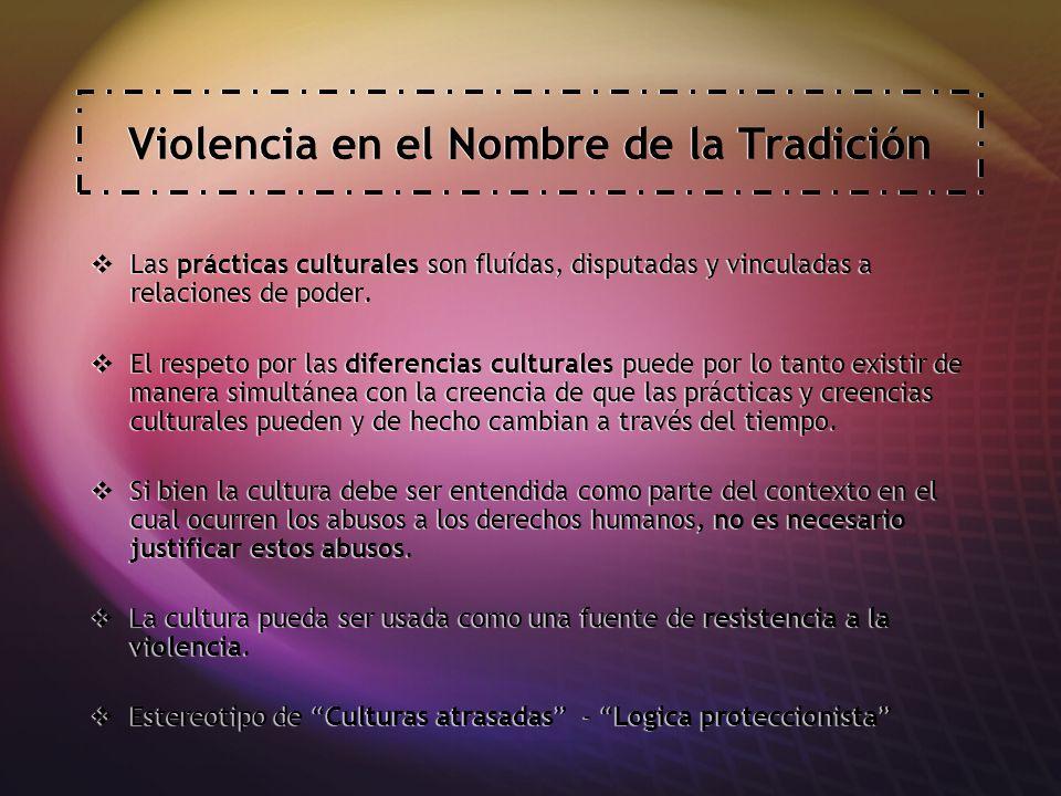 Violencia en el Nombre de la Tradición