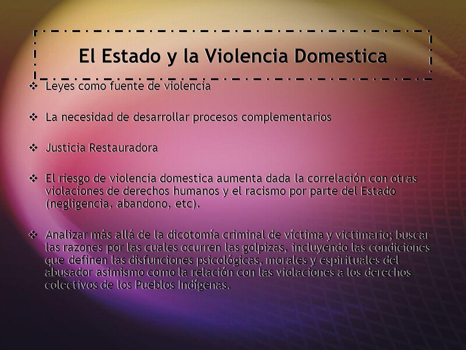 El Estado y la Violencia Domestica