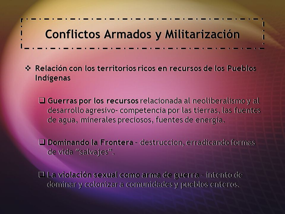 Conflictos Armados y Militarización
