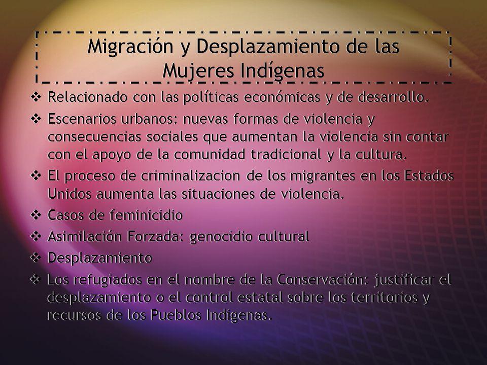 Migración y Desplazamiento de las Mujeres Indígenas