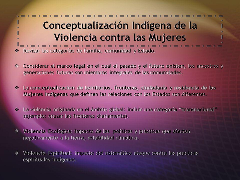 Conceptualización Indígena de la Violencia contra las Mujeres