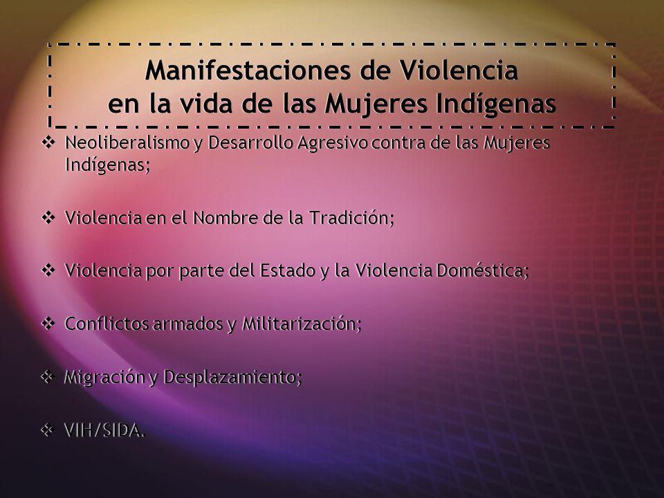 Manifestaciones de Violencia en la vida de las Mujeres Indígenas