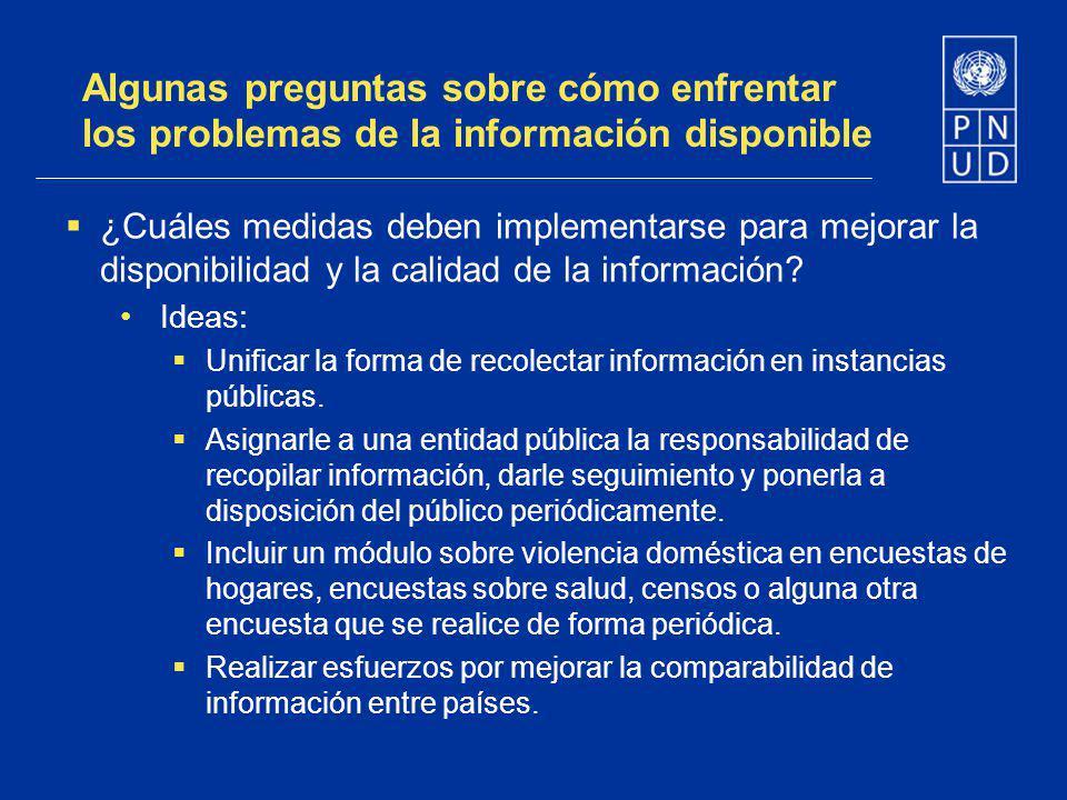 Algunas preguntas sobre cómo enfrentar los problemas de la información disponible