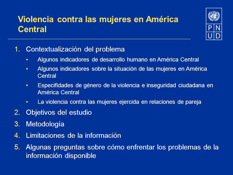 Violencia contra las mujeres en América Central