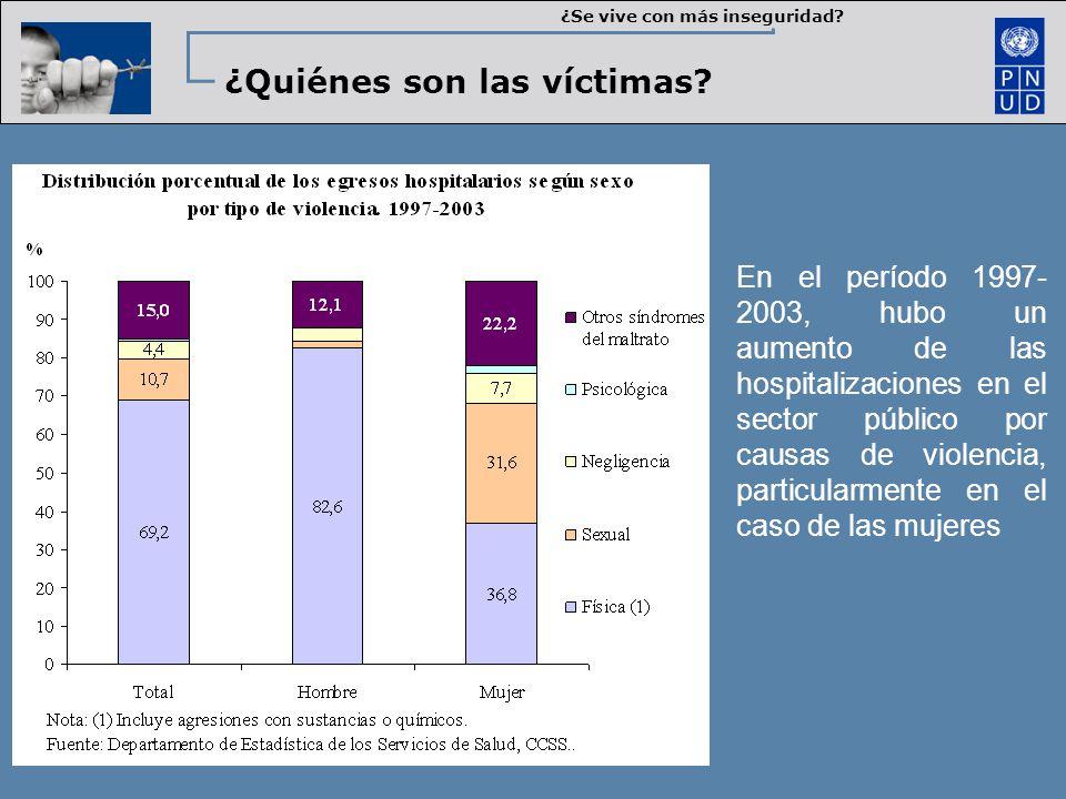 ¿Quiénes son las víctimas