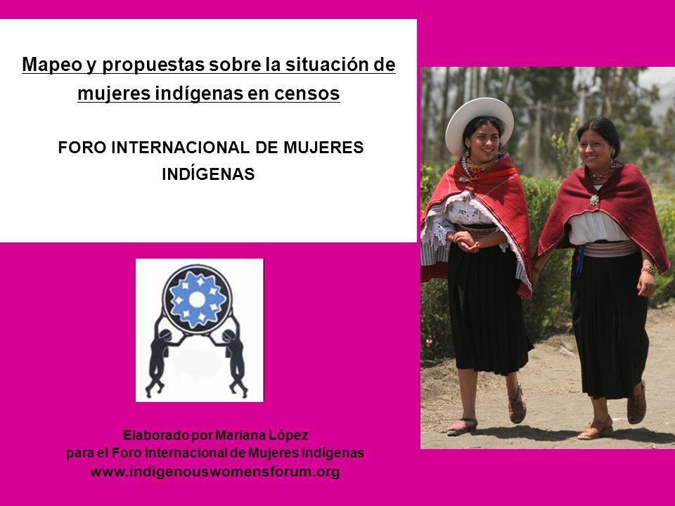 Mapeo y propuestas sobre la situación de mujeres indígenas en censos